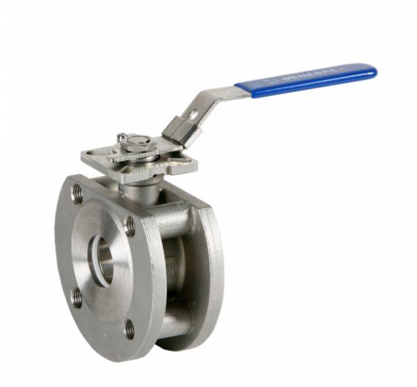Válvula esfera paso total 1 pieza montaje entre bridas PN 16. Wafer. Ref. 2118