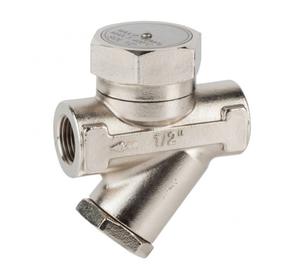 Purgador termodinámico inoxidable con filtro incorporado. Ref. 2282