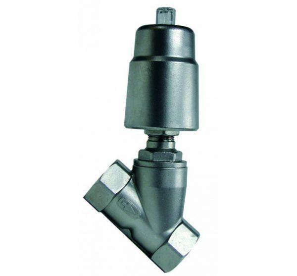 Válvula de Asiento Inclinado con Actuador Simple Efecto. Ref. 5060
