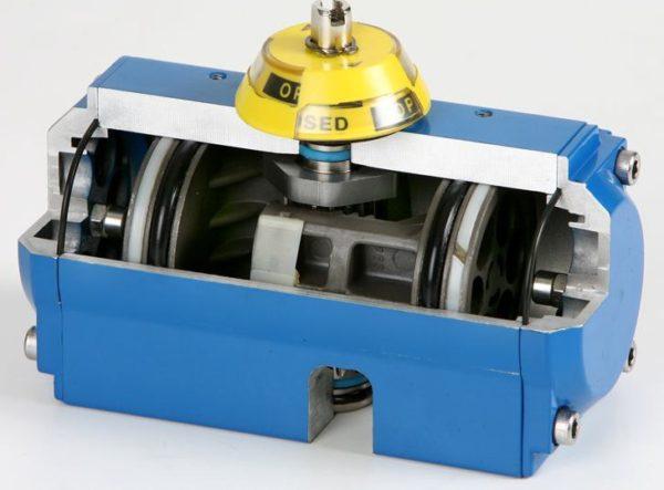 Actuador neumático de aluminio-GNP. Ref. 5800