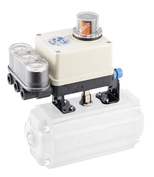 Posicionador neumático y electroneumático para actuadores rotativos. Marca OMC. Ref. R99