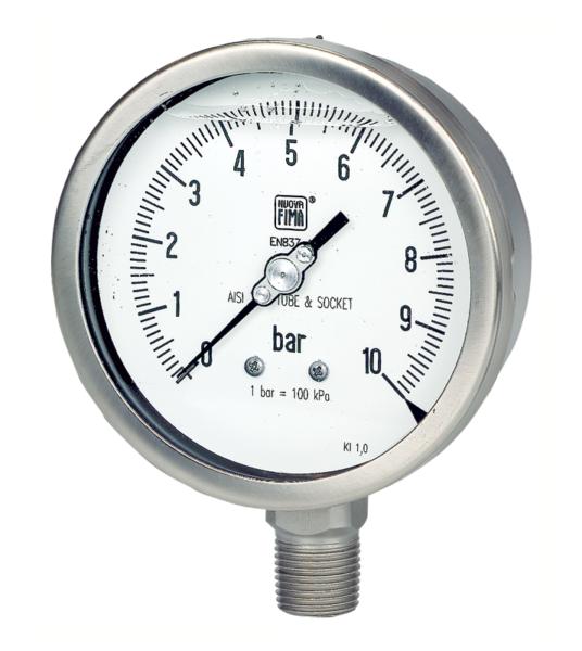 Manómetro con muelle tubular MGS18