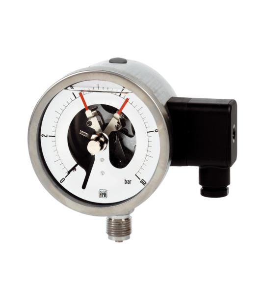 Manómetro con contacto eléctrico. Ref. MCE18 DN100