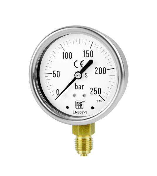Manómetro con muelle tubular antivibraciones. MGS10