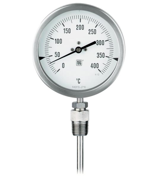 Termómetro bimetálico inoxidable DN 100-125-150. Ref. TB8
