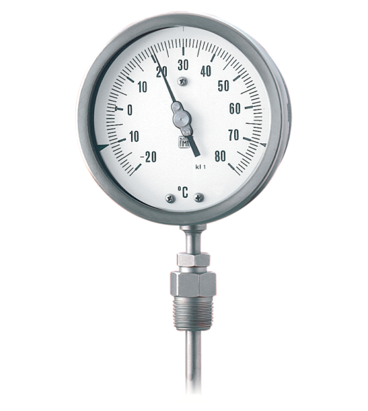 Termómetro a gas inerte inoxidable DN 100-150. Ref. TG8