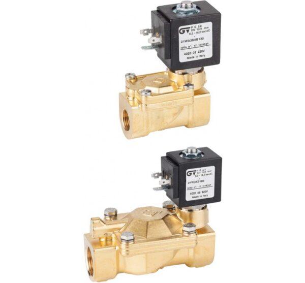 Electroválvula 2 vias N.C. acción indirecta. Ref. 4020/4022